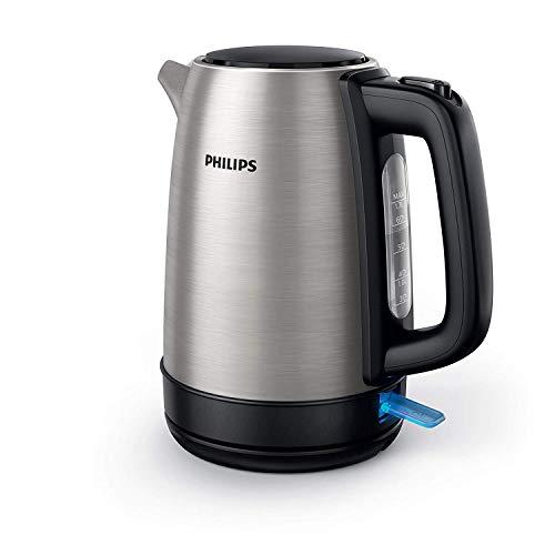 Philips HD9350/90 Bollitore elettrico  2200 Watt, Capacità 1,7 litri, Corpo principale in Acciaio inossidabile, Spegnimento automatico