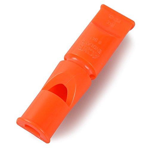 Acme Doppelton Hundepfeife 641 / orange / 6 cm - 2