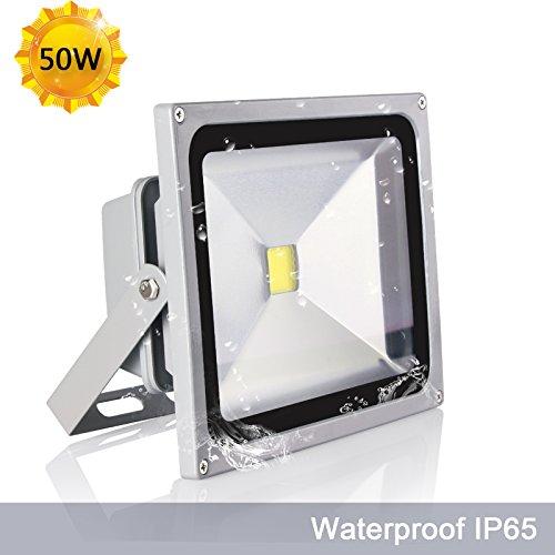 Roleadro Focos LED 50W Impermeable IP65 6500K Reflector Proyector LED para Exteriores Interior Iluminación En Casa de Jardín ?Blanco Fresco?