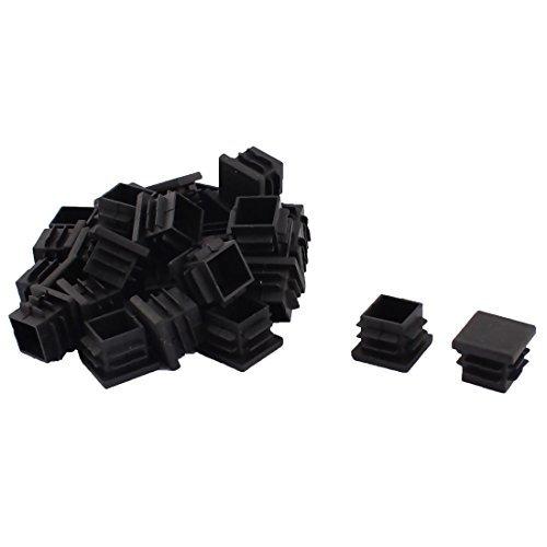 DealMux Plastique Meubles Chaise Pieds de Table Base Plate Les Tube carré de Sol Tuyau Inserts Caps 19 mm x 19 mm 30 pcs Noir