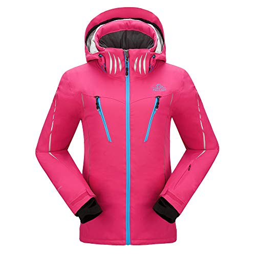 PELLIOT Damen Ski Jacke Winddichte Verdickte Snowboard Breathable Skijacke, Gr.-S, Rose Pink