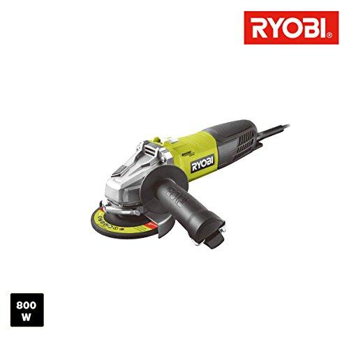 Preisvergleich Produktbild Ryobi Winkelschleifer 125mm 800 W Rag800-125G, 1 Stück, schwarz, grün, 5133002491