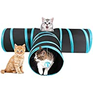 Yaheetech Collapsible 3 Way Cat Tunnel, Pet Toy Tube with Ball for Cat/Rabbit/Puppy/Kitty/Kitten