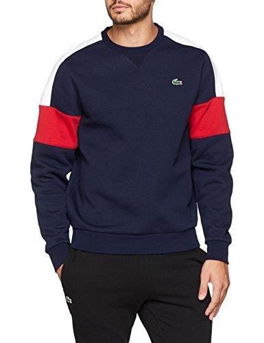 fed783b4b06cc4 Lacoste Sport Herren Sweatshirt Sh9509, Blau (Marine/Blanc-Phare 2eu),