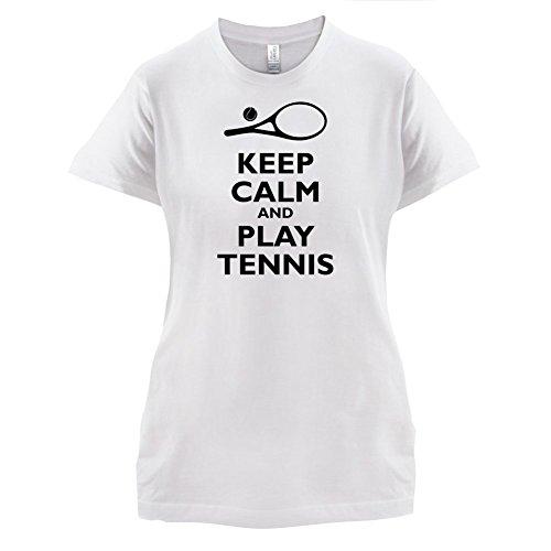 Keep Calm and Play Tennis - Damen T-Shirt - 14 Farben Weiß