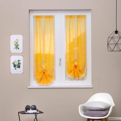 Linea oro coppia tendine estella merletto - 60x150, giallo