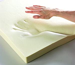"Double 3"" Deep Memory Foam Mattress Topper With A Washable Removable Cover"