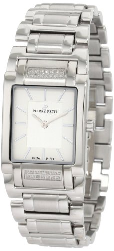 Pierre Petit Women's P-794E Serie Laval Stainless-Steel Square Case Diamond Bracelet Watch