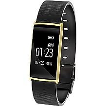 Cebbay Reloj Inteligente Monitor de frecuencia Cardiaca Reloj de Hombre Podómetro Reloj Deportivo Pulsera Inteligente
