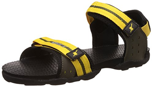 Sparx Men's Yellow and Olive Athletic & Outdoor Sandals - 9 UK/India (43 EU)(SS-0705)  available at amazon for Rs.499