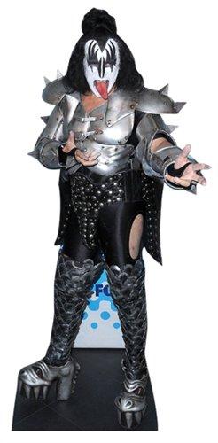 Lebensgroßer Aufsteller aus Pappe (Stand-up, Pappaufsteller, Life-Size) Gene Simmons, 186 cm (Aufsteller Standup Cardboard Cutout) (Pappe Standups Lifesize)