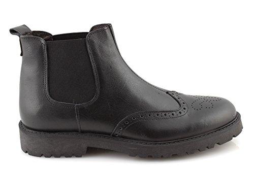 Stivaletti uomo invernali pelle Beatles scarpe uomo stivaletto nero cuoio made in italyDAMFR0001-Nero-43