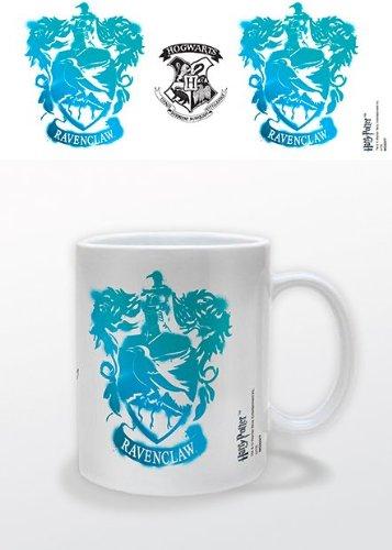 Harry Potter Ravenclaw Stencil Crest Taza de cerámica en caja de presentación