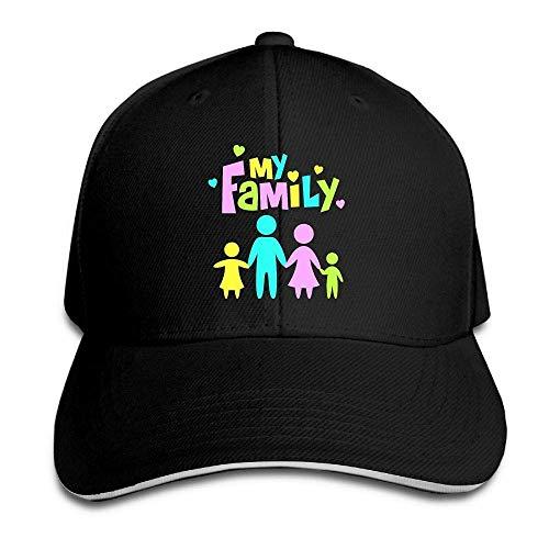 Kotdeqay Unisex Snapback Hip Hop Flat Hat Outdoor Caps My Family Classic Adjustable OL4320