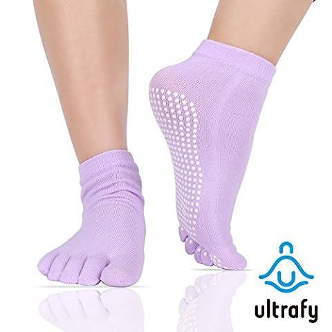 Ultrafy Chaussettes de yoga pilates