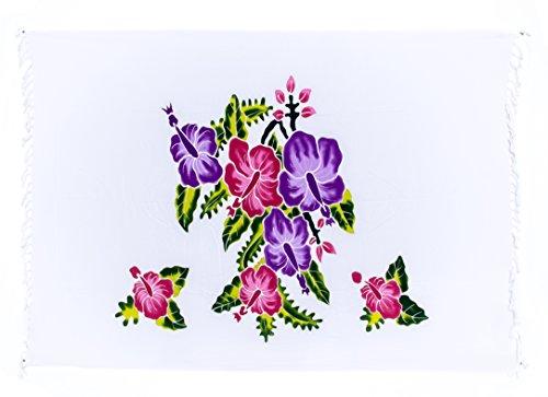 Ciffre - Copricostume -  donna Weiß Blume