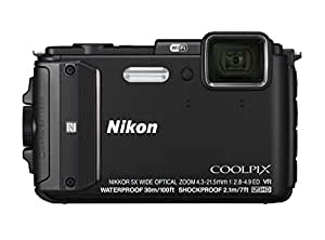 Nikon COOLPIX AW130 Waterproof Digital Camera with Built-In Wi-Fi (Black)