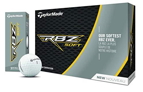 TaylorMade 2019 Rbz Soft Douzen Balles de Golf, Mixte, M7163401, Blanc, One Dozen