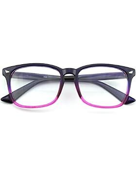 CGID CN82 Retro Clubmaster Wayfarer Anteojos Lente Claro Gafas Para Mujer y Hombre