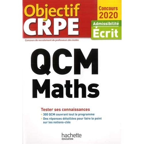 QCM Maths : Admissibilité Ecrit