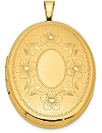 1/20 Gold Filled 26mm Oval Photo Pendant Charm Locket Chain Necklace That Holds Pictures Fashion Jewelry Gifts For Women - Valentines Day Gifts For Her
