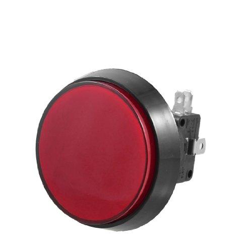 TOOGOO(R)52 mm Durchm. Rote LED-Lampe Runder Knopf mit Endschalter fuer Mikroschalter - Endschalter Mikroschalter