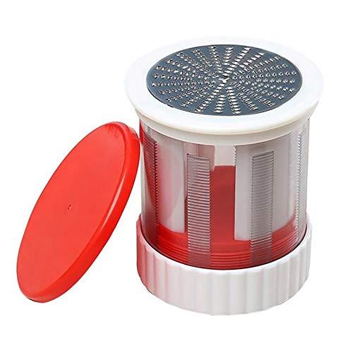 Youtaimei Zufriedenstellendes Produkt Käsereibe, Buttermühle Reibe Slicer Mühle Manuelle Drehmühle Backwerkzeuge mit Deckel Edelstahl Portable Cooks Innovationen -