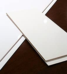 The Cladding Store Gloss White Bathroom PVC Cladding Shower Ceiling Kitchen Wet Wall Panels UPVC Shower Panels (8 Pack)