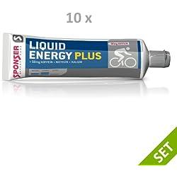 10X 70g, gel en tubo para resistencia, 10x 17-322 Sponser Liquid Energy Plus