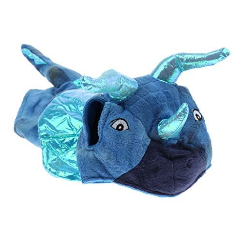 D DOLITY Haustier Hund Katze Halloween Bulle Kostüm Cosplay Kleidung - Blau, S