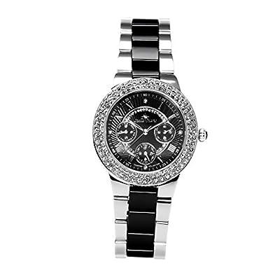 Stella Maris - STM15S3 - wrist watch for women - quartz movement analog display - black dial - black ceramic bracelet