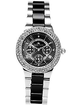 Stella Maris Damen-Armbanduhr Analog Quarz Premium Keramik Diamanten - STM15S3
