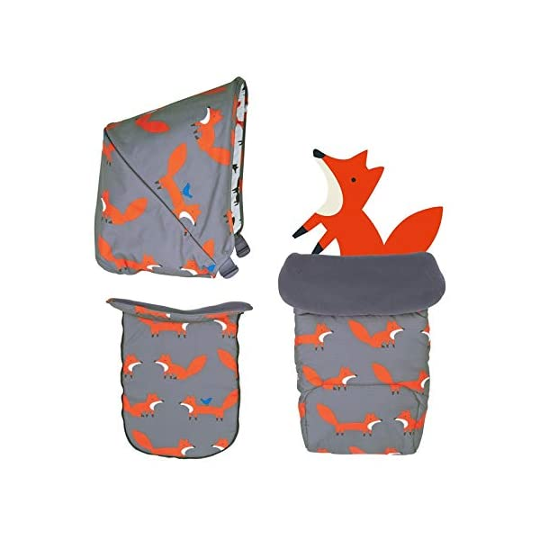 Cosatto Mister Fox Giggle Mix Colour Pack Cosatto Change the look of your Giggle Mix Pram to suit your mood, family and adventures - just pop on a new colour pack Adventure ready whatever the weather, with UPF100+ protection sunshade hood, raincover, pram apron and fleece-lined padded pushchair apron Each hood lining is different; stimulate your baby's growing imagination with the storytelling patterns 1