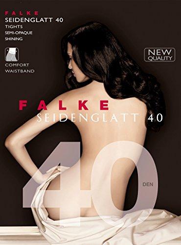 FALKE Damen Strumpfhosen / Leggings Seidenglatt 40 den - 1 Paar, Gr. M-L, schwarz, leicht glänzend, semi-opaque, Maschenstopp