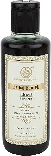 Khadi Bhringraj aceite en el cabello a base de plantas Khadi 210ml