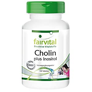 Cholin plus Inositol – für 100 Tage – VEGAN – HOCHDOSIERT – 100 Tabletten