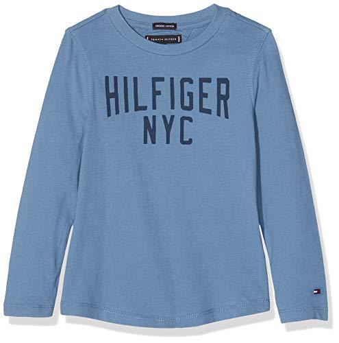 Tommy Hilfiger Jungen Essential Logo Tee L/S Langarmshirt, Blau (Coronet Blue 418), 116 -