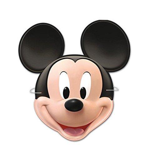 Topolino Mickey Mouse 6 x Maschera in Cartone per Compleanno