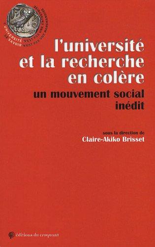 L'universit et la recherche en colre : Un mouvement social indit