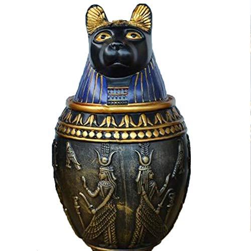 LRKZ Ataúd para Mascotas, Suministros Funerarios para Perros Y Gatos Estilo Faraón Egipcio Sellados, Adecuados para Mascotas Grandes, Medianas Y Pequeñas,Kitten