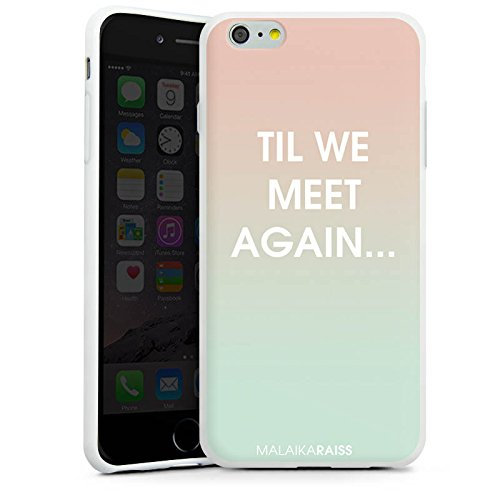 Apple iPhone X Silikon Hülle Case Schutzhülle Sprüche Farbverlauf MALAIKARAISS Silikon Case weiß