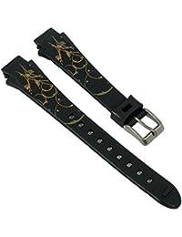 Uhrenarmband Kunststoff Band schwarz passend zu Calypso Watches K5624/4 K5624