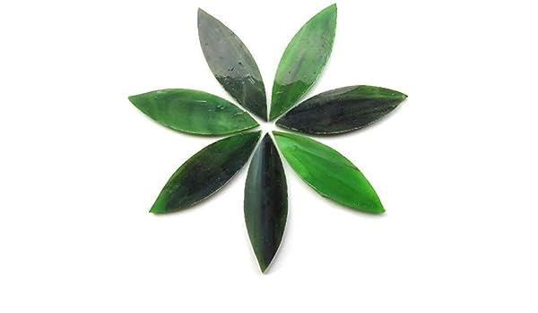 Vert En vitrail 50/g Carreaux de mosa/ïque artisanale Grands p/étales Olive Grove