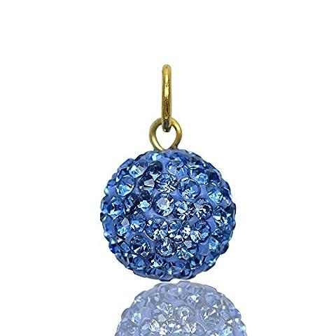 Jewellery-Joia Damen Kinder - Gold 9 Karat (375) 9 Karat (375) Gelbgold Rundschliff Brilliant Rund blau Saphir