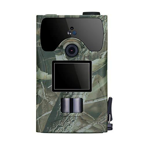 ZOSI 16MP 1080P Full HD Outdoor Wildkamera mit PIR Bewegungsmelder Nachtsicht Jagd Kamera Fotofalle für Tierbeobachtung 120° Weitwinkel 22m Erfassungsbereich IP56 Wasserdicht