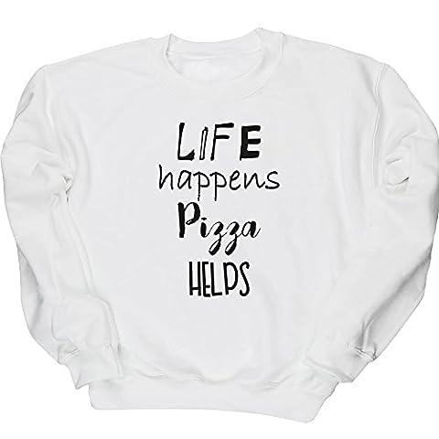 HippoWarehouse - Sweat-shirt - Homme - blanc - Medium