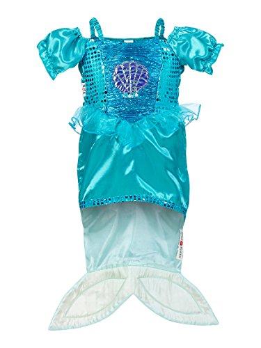 0026–Kostüm für Kinder–Marina Mermaid–Kleid–Aqua/Lilac (Marine Kostüme Für Kinder)