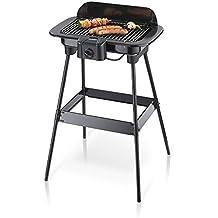 Severin 8521 - Barbecue sur Pieds - 2300 W - 851 cm2 - noir - grille chromée - pare-vent - thermostat (Certifié Reconditionné)
