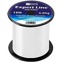 BZS Expert Línea de Pesca Monofilamento Línea de Carpa Carretes de monofilamento marrón y Transparente (0.40mm / 8.2Kg / 18lbs / 729m, Claro)