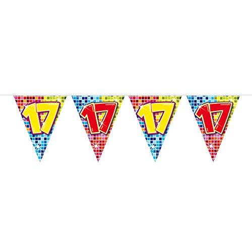 Folat Nuevo Banderolas Birthday Blocks 17, 6m, 1Stk.